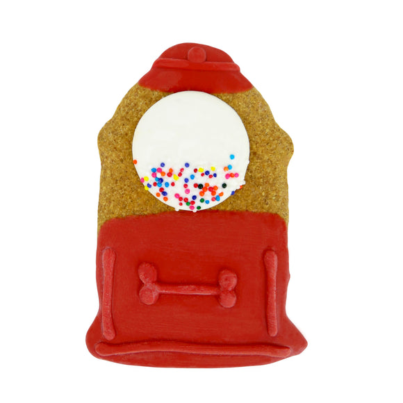 Frosted Gumball Machine Dog Treat