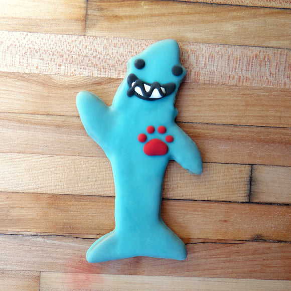 Frosted Dancing Shark Dog Treat
