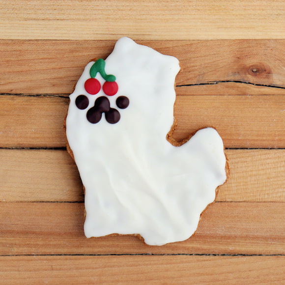 Frosted Northern Michigan Cherry Dog Treat