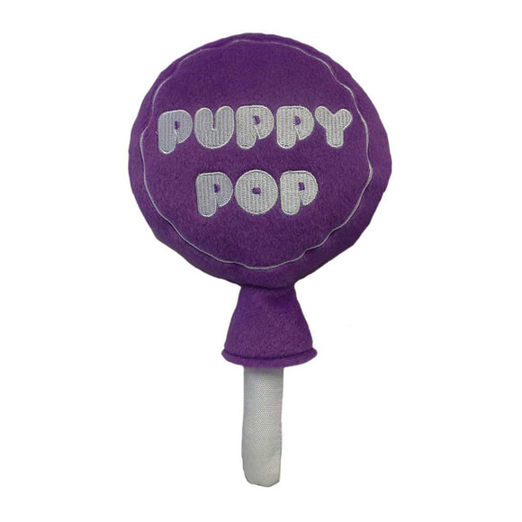 Grape Puppy Pop Power Plush Dog Toy