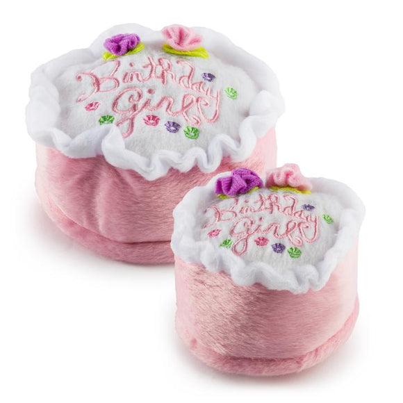 Birthday Girl Plush Toy Cake - Small
