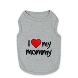 I Love My Mommy Grey Tee