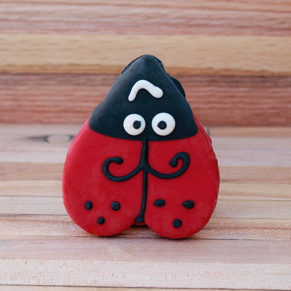 Frosted Ladybug Dog Treat