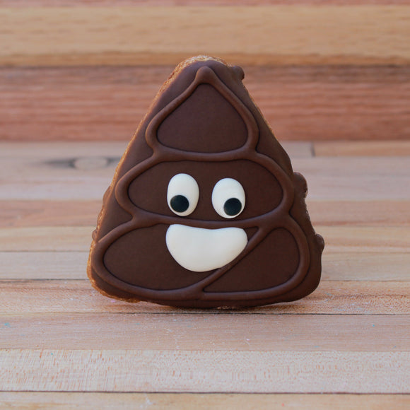 Frosted Poop Emoji Dog Treat