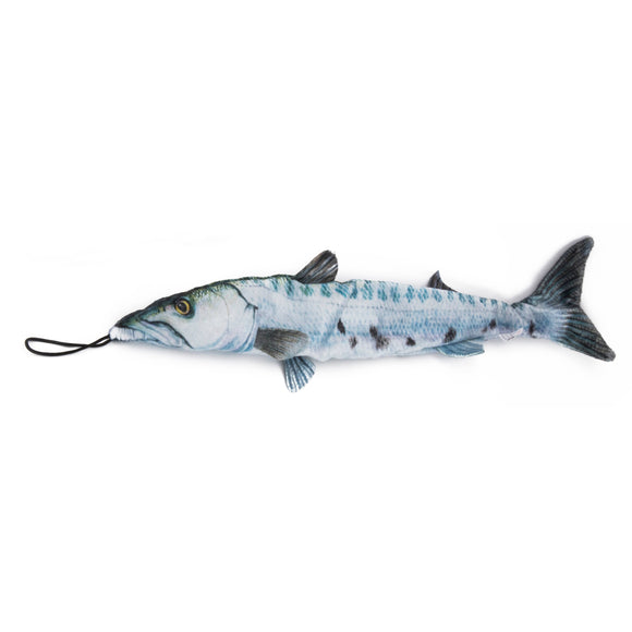 Saltwater Barracuda Fish Dog Toy