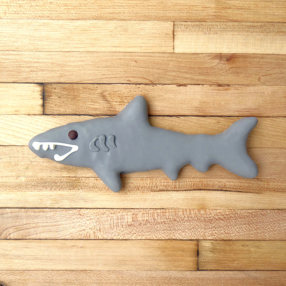 Frosted Shark Dog Treat