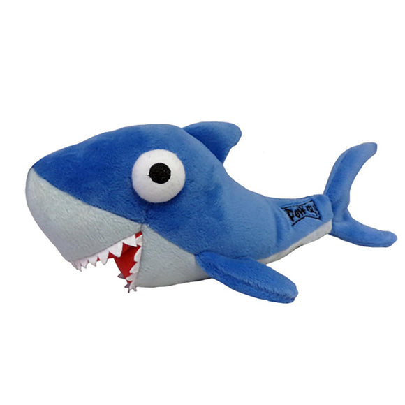 Shark Power Plush Dog Toy