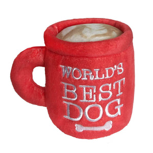 Worlds best Dog Power Plush Dog Toy