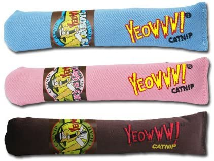 Yeowww! Cigar Catnip Toy  (color varies)