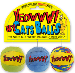 Yeowww! My Cats Balls Catnip Toy