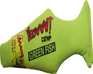 Yeowww! Green Fish Catnip Toy