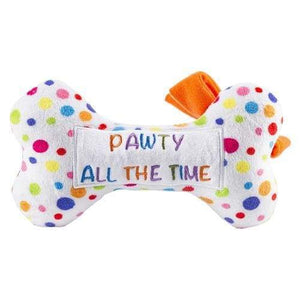 Birthday Pawty All The Time Plush Bone - Small