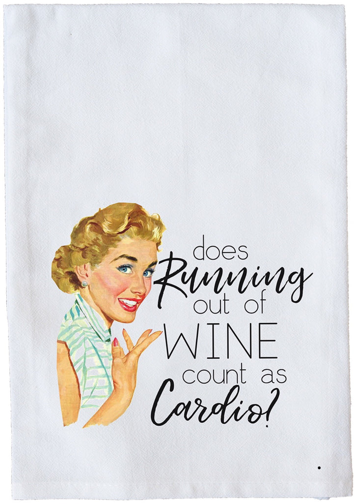 Running out of Wine Count as Cardio? Dish Towel