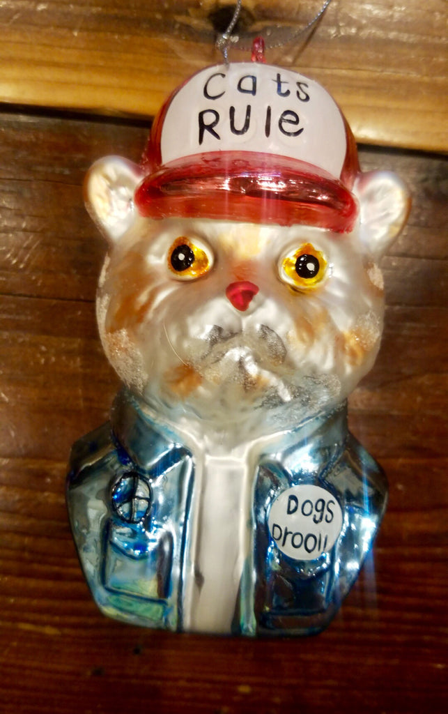Cats Rule Dogs Drool Ornament