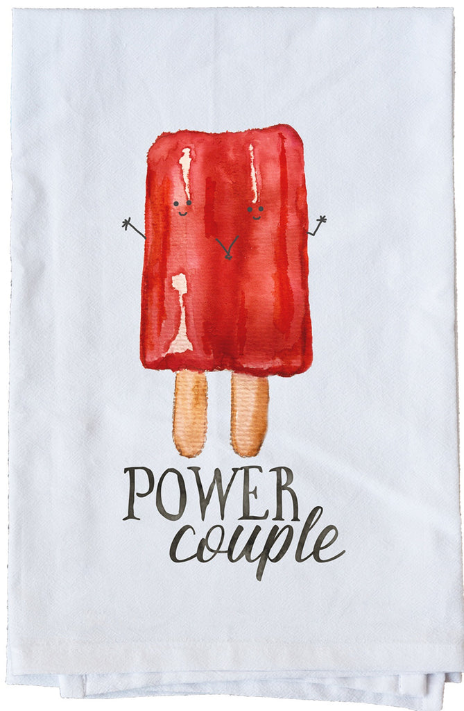 Power Couple Dish Towel