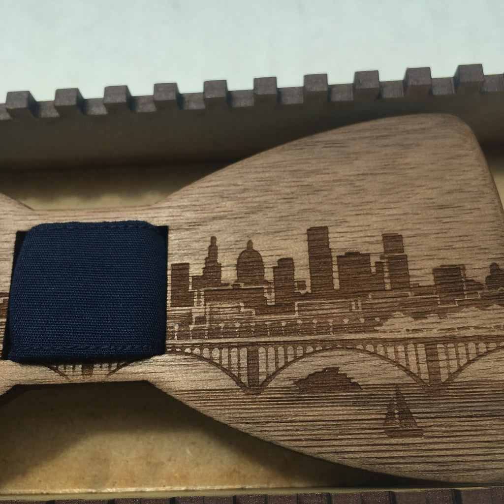 Twin Cities Wooden Bow Tie