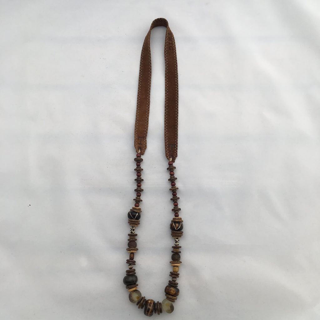 Twine & Twig - Long Cliff Classic- Brown Necklace
