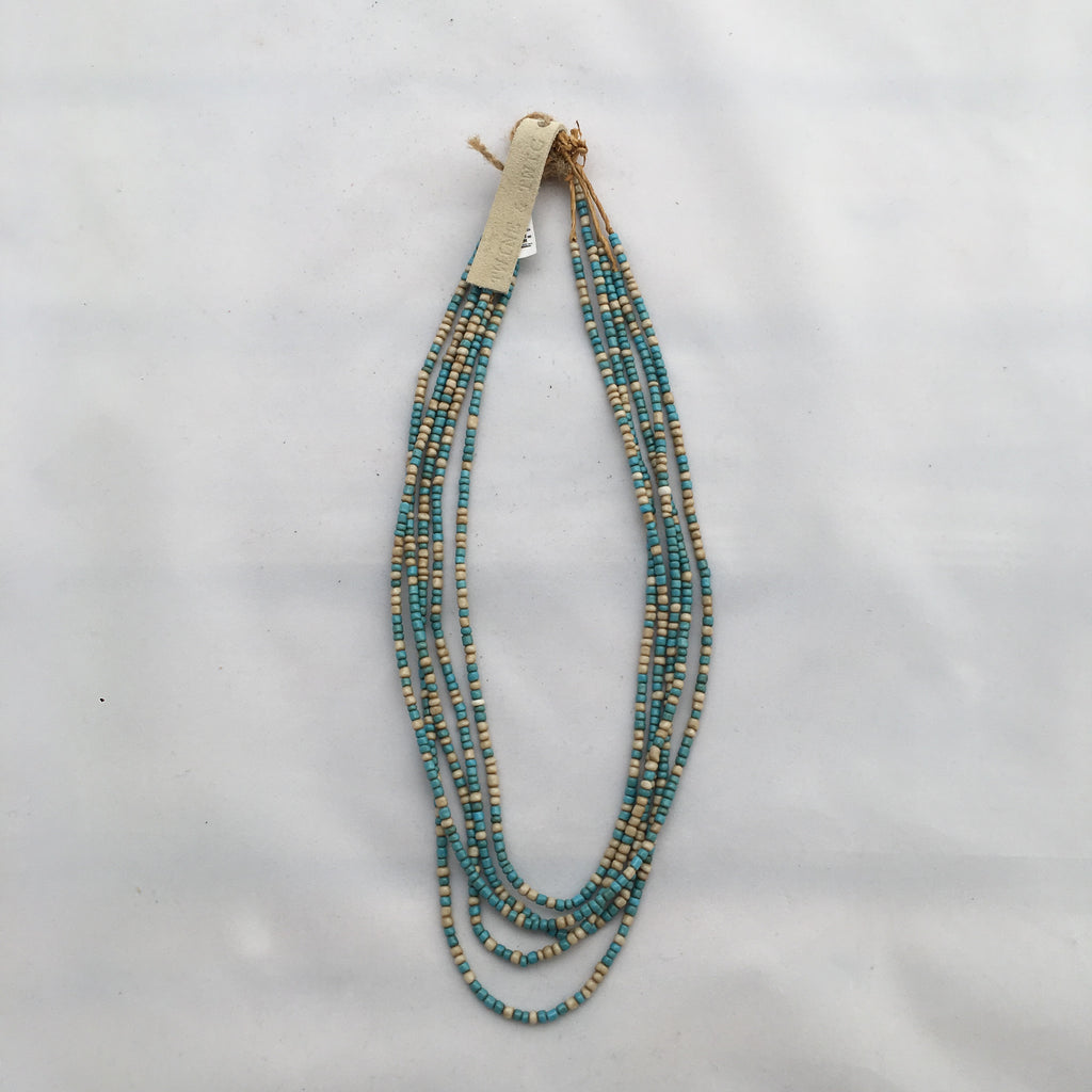 Twine & Twig- Turquoise/Cream Layers Necklace