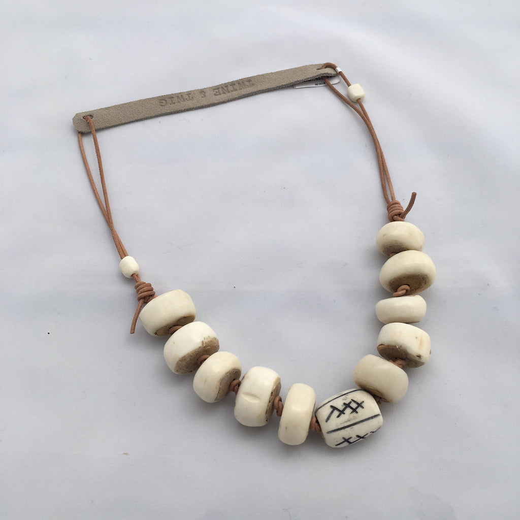 Twine & Twig- Cord Classic Necklace- White