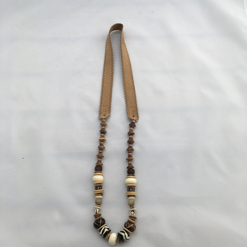 Twine & Twig- Long Cliff Classic- Tan Necklace