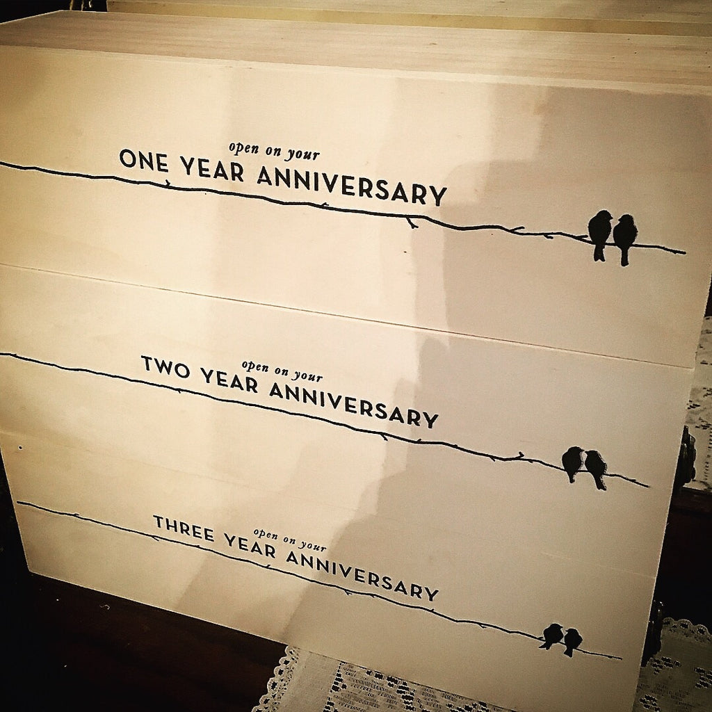 Wedding Anniversary Wine Box
