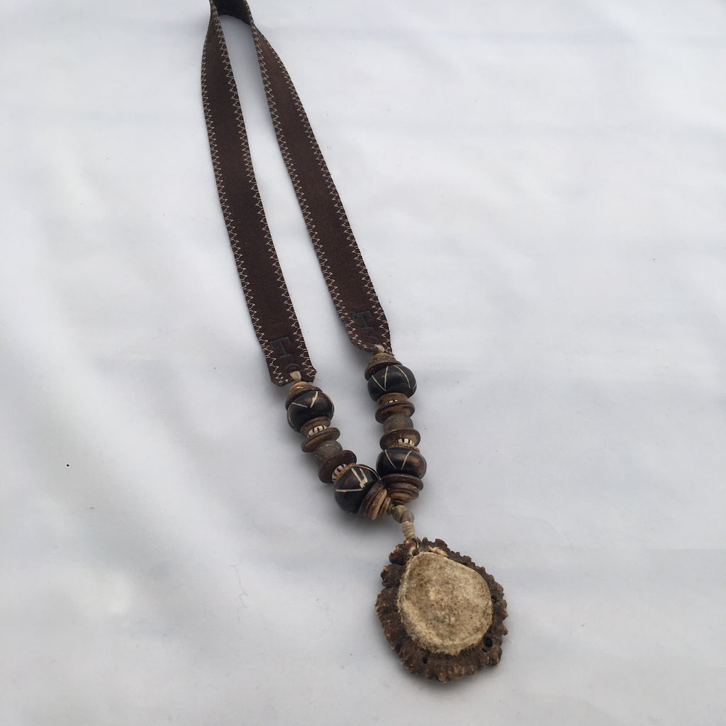 Twine & Twig- Trail Burr Necklace- Brown