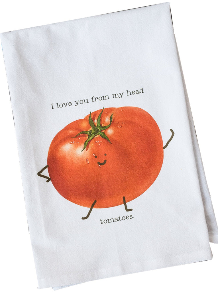 I Love You Dish Towel