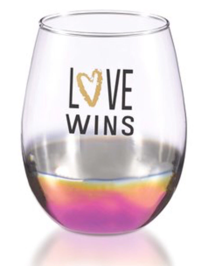 Love Wins Stemless Wine Glass