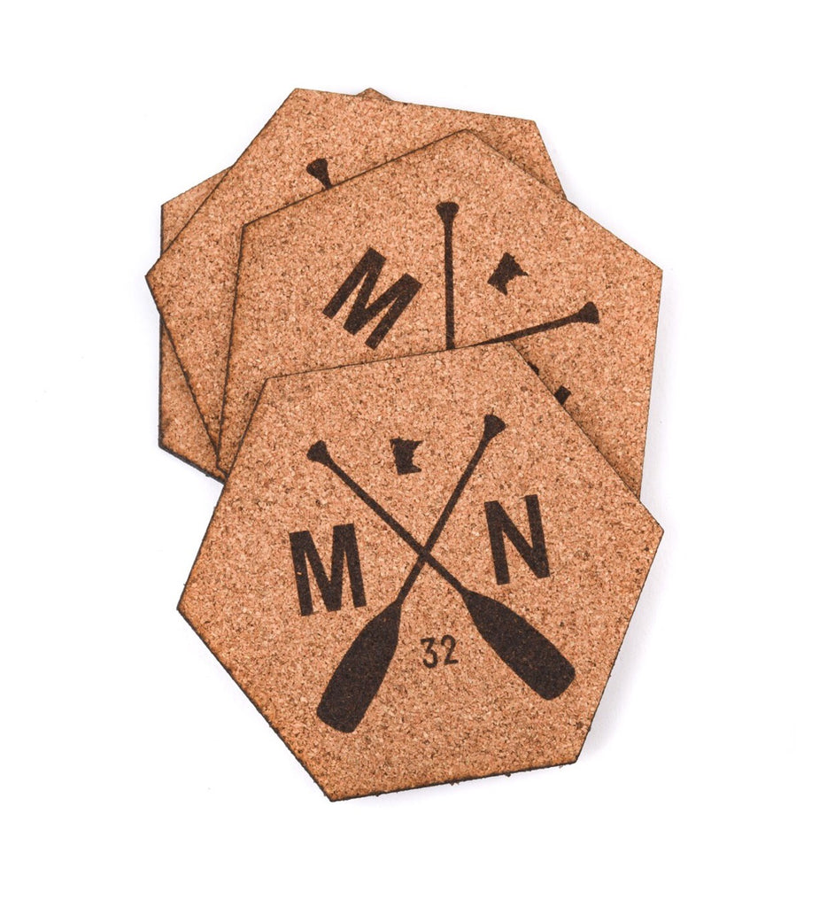 Hexagon Cork Sota Coasters