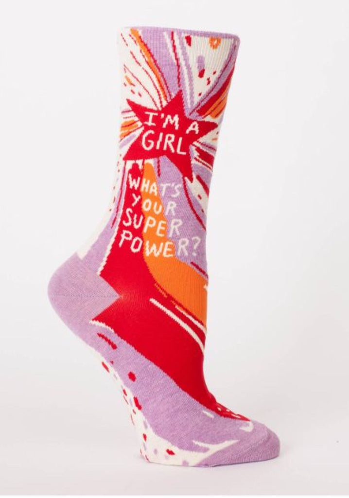 I'm a Girl What's your Superpower- Women's Socks