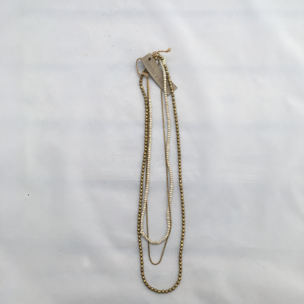 Twine & Twig- Metallic Layers Necklace