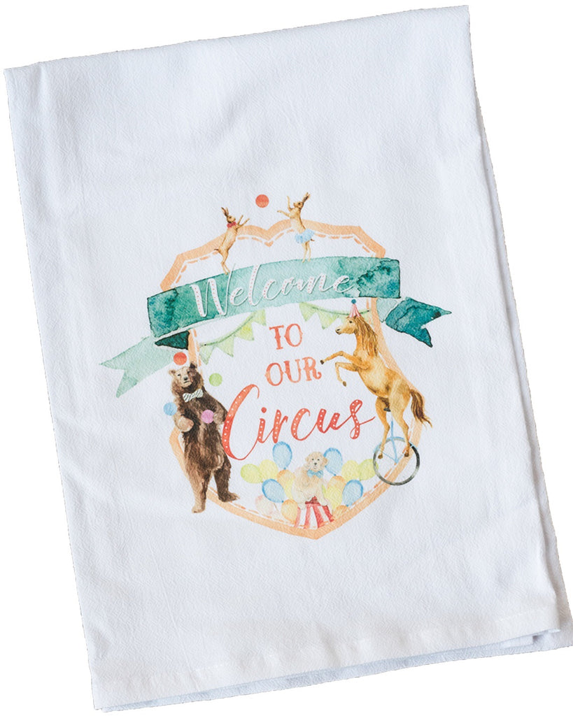 Welcome to our Circus Dish Towel