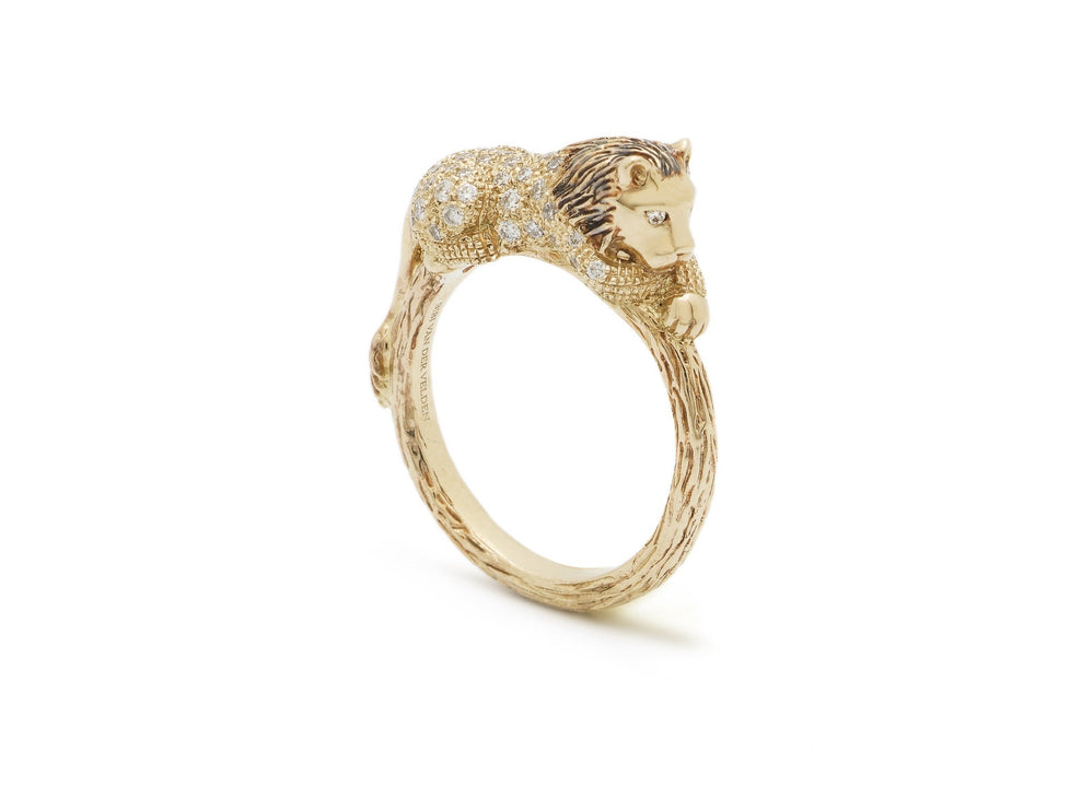 Lion Stackable Ring Diamond
