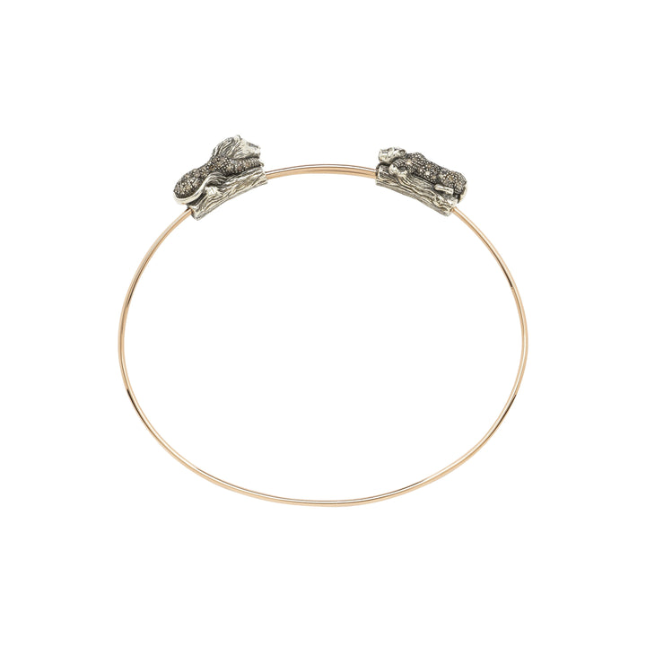 Animal Lion and Lioness Bangle