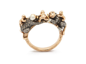 Monkey Family Ring