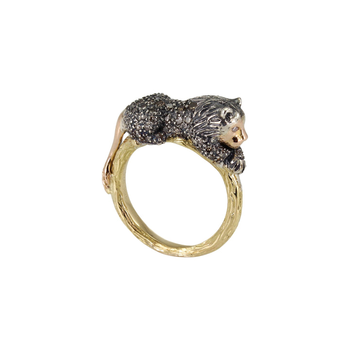 Animal Lion Stackable Ring
