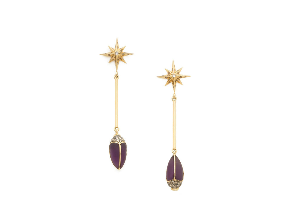 Scarab Star Earrings