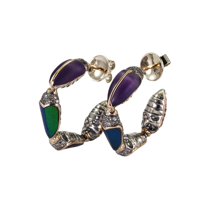 Scarab Hoop Earrings