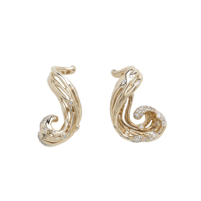 Small Wave Earrings