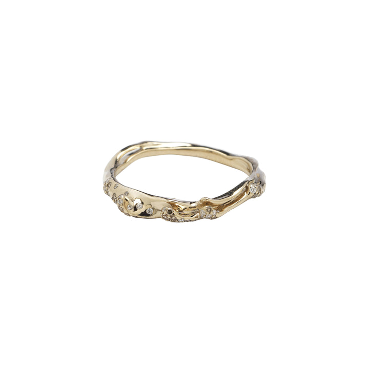 Wave Stackable Ring Three