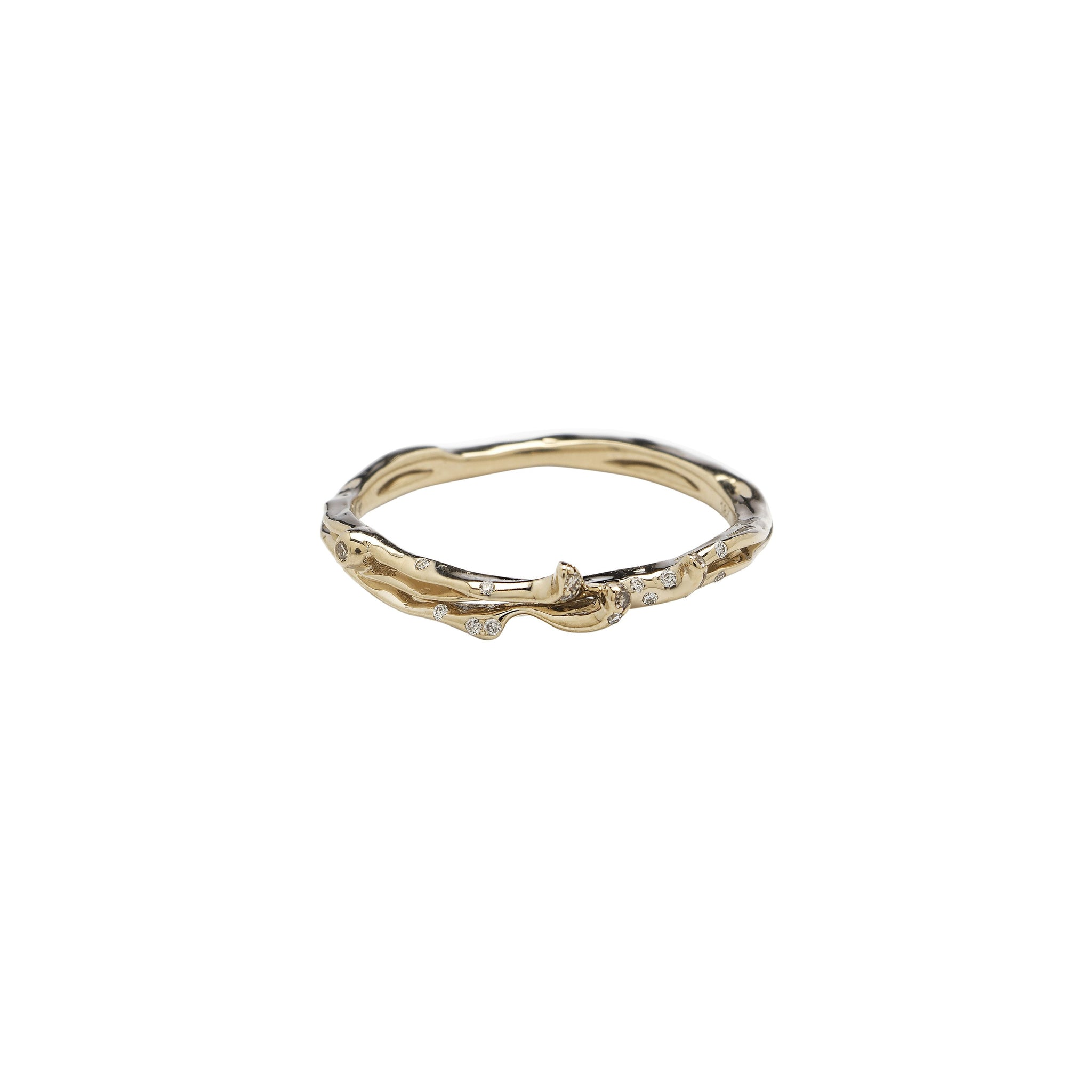 Wave Stackable Ring Two