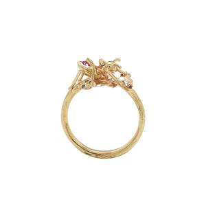 Ant Stackable Ring – Coloured Stones