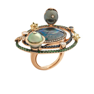 Galaxy Opal Cocktail Ring