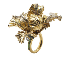 Big Tulip Ring – Diamonds