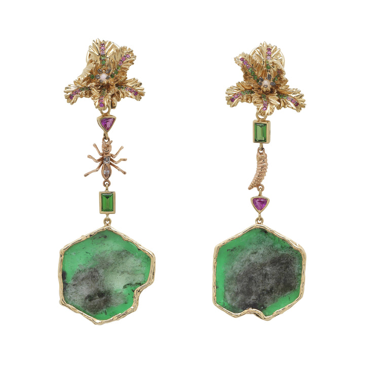 Emerald Slice Earrings