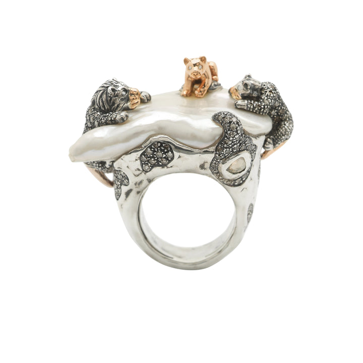 Lion Family Ring