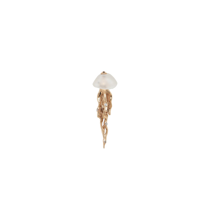 Jellyfish Stud Earring Rose Gold