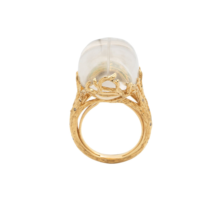 Scarab Quartz Ring Through the Looking Glass