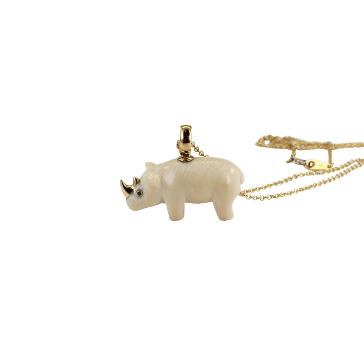 Mammoth Rhino Necklace