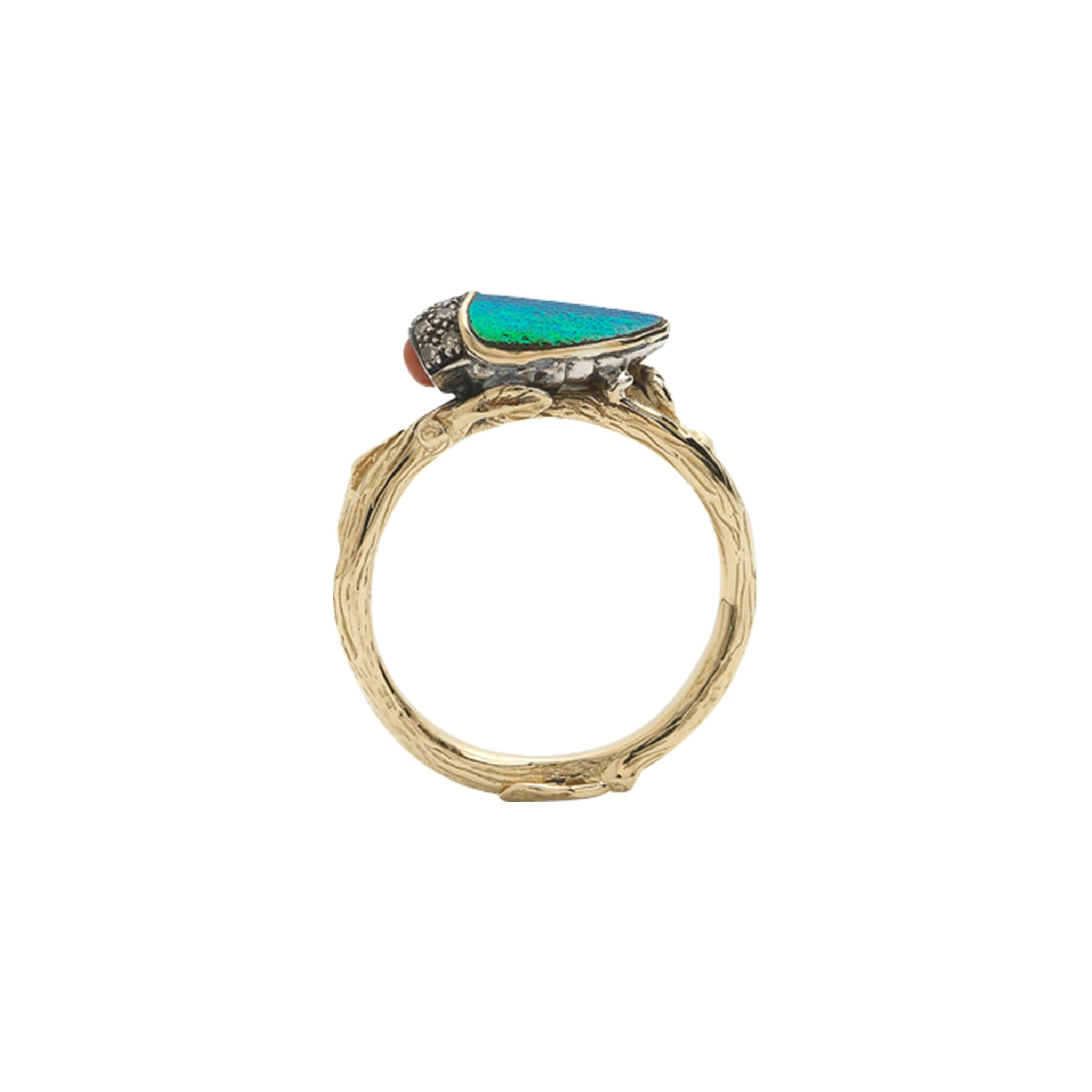 Rudolf Scarab Stackable Ring